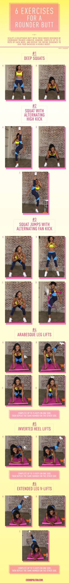 Round Butt Workout - 6 Exercises for a Rounder Butt
