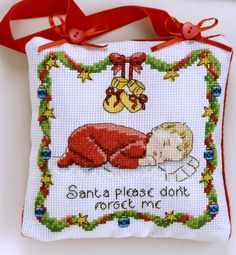 Welcoming a new baby into the household is an important time. This Baby's first Christmas cross-stitch chart design can be used to create charming gifts and