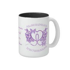 Alzheimers Awareness Purple Butterflies Mug Alzheimers Awareness, Alzheimer's And Dementia, Purple Butterfly, Photo Mugs, Cyber, Mall, Butterflies, I Shop, Funny Jokes