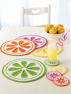 Crochet - Citrus Drops Table Set - #EC01231