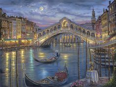 Last Night On the Grand Canal ~ Venice, Italy ~ by Robert Finale
