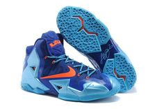 "ba4153adbbc4b Shop Nike LeBron 11 ""World Champion"" Royal Blue Gamma Blue-Orange For Sale  Super Deals black"
