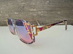 010ca7f76e Vintage Cazal Sunglasses - Mod 352 - Col 762 - Two Tone Lenses - Purple -  Pink - Cari Zalloni - 1980s - 1990s - Hip Hop - Eyewear - Fashion. Etsy