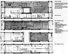 Figure 19. Le Corbusier's Unité d'habitation in Marseille residence plan and section