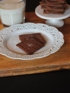 Gluten Free Chocolate Graham Crackers - Lynn's Kitchen Adventures