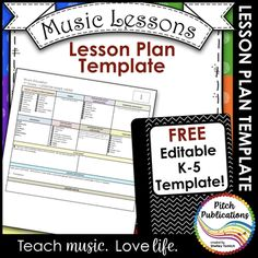 Music Teacher Sub Plan Template  Substitute Teacher Elementary