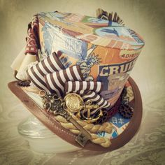 "3"" top hat - Steampunk, Adventurer, Explorer, Time Traveller, Burlesque, Rockabilly, Lolita, Sherlock, Warehouse 13, Festival hat, Carnival"