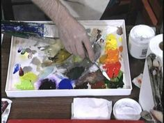 Acrylic Artist Jerry Yarnell explains his limited palette - YouTube
