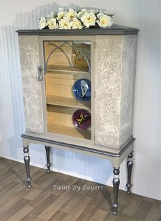 China Cabinet, Bathroom storage cabinet, Dining Room cabinet, Liquor cabinet, Bathroom storage Chalk Paint Furniture, My Furniture, Recycled Furniture, Furniture Making, Furniture Makeover, Vintage Furniture, White Wood Dresser, Or Antique, Bathroom Storage