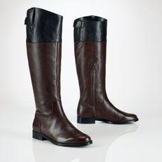 Ralph Lauren Vachetta Two-Tone Riding Boot at ShopStyle