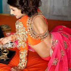 Gorgeous Full Sleeve Saree Blouse Designs for this Winter