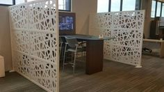 WEB screen used to divide space with style! The new Synergy Business Environments showroom looks great! Office Dividers, Divider Screen, Natural Light, Showroom, Space, Business, Inspiration, Furniture, Design