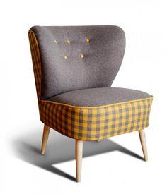 Fotel klubowy, uszak, PRL, lata 50 60, art deco