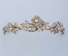 Tiara c1860. Diamond, silver, gold