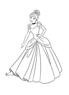 Cinderella Coloring Pages Disney Books Adult Arielle Characters Paper Dolls Stuff Dont Forget