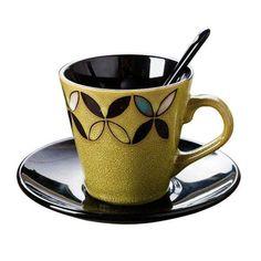 Brand Name: SAFEBETType: Coffee Cup SaucersMaterial: ceramicCeramic Type: PorcelainTechnique: On-glazedCertification: CE / EUCertification: CIQQuantity: Gift BoxModel Number: Cup and saucerFeature: Eco-Friendlyfilizanki do kawy: taza cafetazzine c. Espresso Cups, Coffee Cups, Japanese Tea Cups, Fun Cup, Japanese Pottery, Tea Pots, Mugs, Nice, Tableware