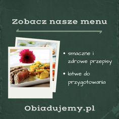 Zobacz nasze przykładowe menu. Kilka propozycji obiadowych od @Obiadujemy.pl.pl.