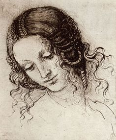 Leonardo Da Vinci, Study of Leda's Head.