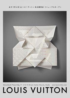 Very beautiful Louis Vuitton — Invitation Origami   Happycentro