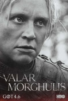 HBO - Making Game of Thrones - See New Character Posters and Season 4 Teasers - Brienne of Tarth