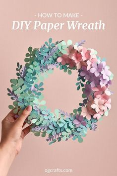 Video Tutorial: Paper Wreath - OGCrafts