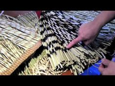 ▶ Maori Textiles: The Piu Piu Project - YouTube  twisting fringes by hand