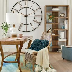 This gallery wall clock would be the perfect accent piece for a farmhouse industrial look.   modern farmhouse   farmhouse decor   industrial farmhouse decor   wall art   living room   entryway   home decor   home office   dining room   kitchen   #ad #affiliatelink https://go.magik.ly/ml/brcd/