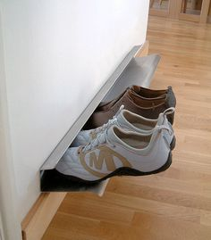 Now THIS is a wonderful way to add a shoe rack just about anywhere!