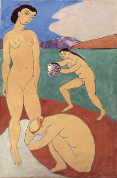 Henri Matisse (French, 1869–1954)  Le Luxe II, 1907–8  Distemper on canvas; 82 1/2 x 54 3/4 in. (209.5 x 138 cm)  Statens Museum for Kunst