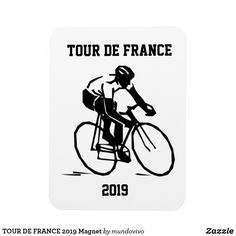 Shop TOUR DE FRANCE 2019 Magnet created by mundovivo. Paris Gifts, Bicycle Race, Bicycles, Cycling, Kids Shop, Tours, Magnets, Silhouette, Products