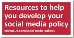 Resources to help you develop your social media policy to help you manage the reputation of your brand