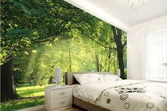 Living Room Scenic Wall Murals ideas | Style Fashionista