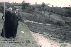 Pbro. Adolfo Hoyos Ocampo, inspeccionando Carretera Panamericana, 1974.