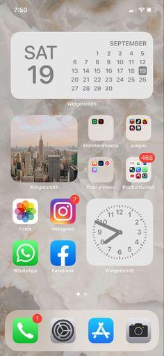 Iphone Wallpaper Vintage Hipster, Iphone Wallpaper Ios, Iphone App Design, Iphone App Layout, Iphone Home Screen Layout, Ipad Ios, Ideas Para Organizar, Simple App, Iphone Hacks