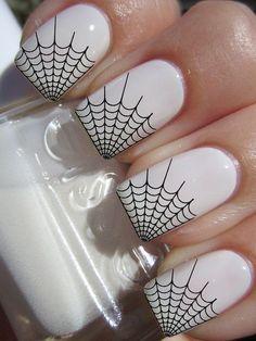 29 Black Transparent SPIDER WEB Nail Decals