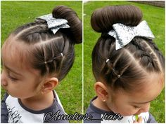 """116 Likes, 16 Comments - Hairstyles For Little Girls (@anneliese_hair) on Instagram: """"Little Miss Anneliese wanted pigtails today so ofcourse I couldn't just do simple ones I did a…"""""""
