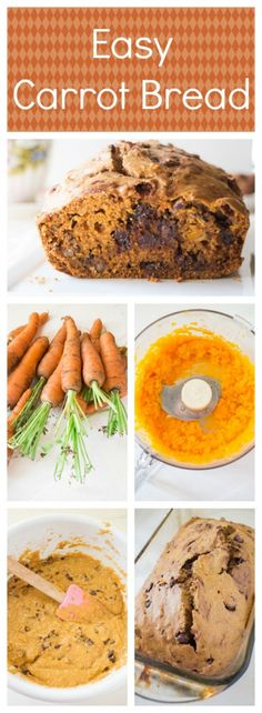 This delicious homemade Chocolate Chip Carrot Bread is easy to make and uses 6 carrots. It's great for leftover carrots and a sneaky way to get vegetables into a dessert!