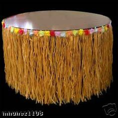 PERFECT for a surfer themed party - Grass Table Skirts