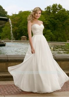 Wedding dress online shop - chiffon strapless sweetheart neckline with rouched bodice and slim sheath pleated skirt 2011 hot sell informal wedding dress wl 0154 really like top 4 $$$ Carly likes