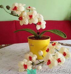 Орхидея крючком / Вязание