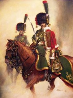 Officer French Chasseur à Cheval of the Imperial Guard, 1804-1808, by Stefano Manni.