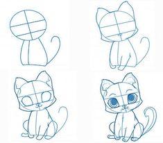 нарисовать котика