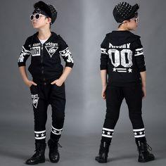 $27.50 (Buy here: https://alitems.com/g/1e8d114494ebda23ff8b16525dc3e8/?i=5&ulp=https%3A%2F%2Fwww.aliexpress.com%2Fitem%2FNew-fashion-Spring-Autumn-children-s-clothing-set-black-Flower-Print-Costumes-kids-sport-suits-Hip%2F32706588724.html ) New fashion Spring Autumn children's clothing set black Flower Print Costumes kids sport suits Hip Hop dance pant & sweatshirt for just $27.50
