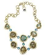 Kanupriya Labradorite Bib Link Necklace.  Stunning for an open collar big shirt.