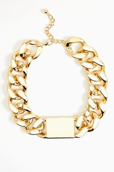 Chained ID Necklace - Gold in Accessories Jewelry at Nasty Gal