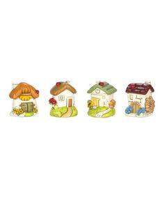 Miniature Ladybug Cottages Set #zulily #zulilyfinds
