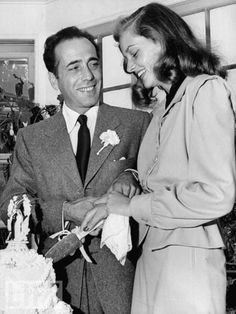 most legendary in Hollywood, and they tied the knot late in May of 1945 Humphrey Bogart & Lauren Bacall Old Hollywood Wedding, Hollywood Couples, Golden Age Of Hollywood, Hollywood Stars, Classic Hollywood, Hollywood Sign, Hollywood Icons, Vintage Hollywood, Humphrey Bogart