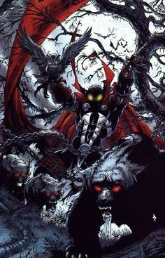 Spawn, the creation of Todd McFarlane in an incredible image - Spawn, a criação de Todd McFarlane numa incrível imagem Comic Book Characters, Comic Book Heroes, Comic Character, Comic Books Art, Comic Art, Book Art, Spawn Comics, Bd Comics, Anime Comics