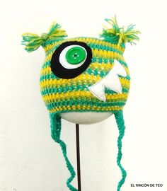 Crochet Hat CrazyMouth Monster by elrincondeteo on Etsy, €17.80