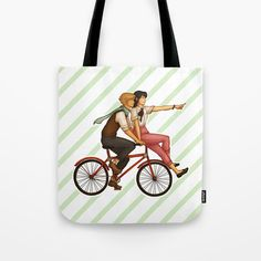 Adrinette Bicycle Stripes Tote Bag ~ $20 ~ Miraculous Ladybug Gifts!